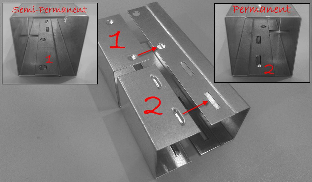 Easy Lock (fixare rigida permanenta a 2 repere, poate inlocui sudura)