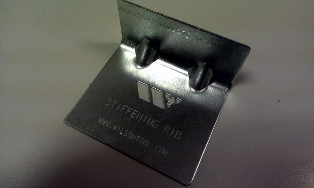 Gusset tool - Scula nervurari pe muchia de indoire (pentru rigidizare)